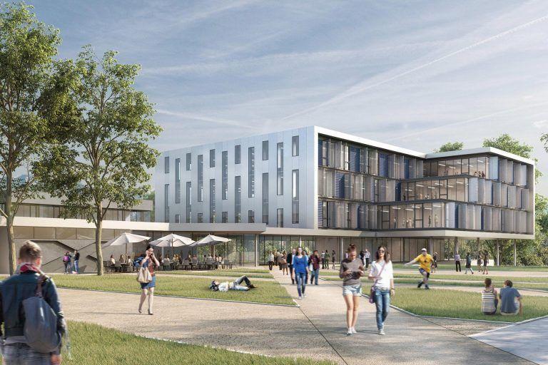 Hörsaal, Seminar- und Bürogebäude der Universität Konstanz