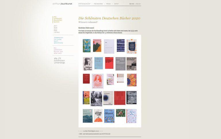 Stiftung Buchkunst: Longlist
